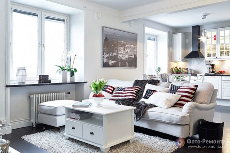 Светлый и нежный интерьер квартиры в Швеции, 65 кв.м.