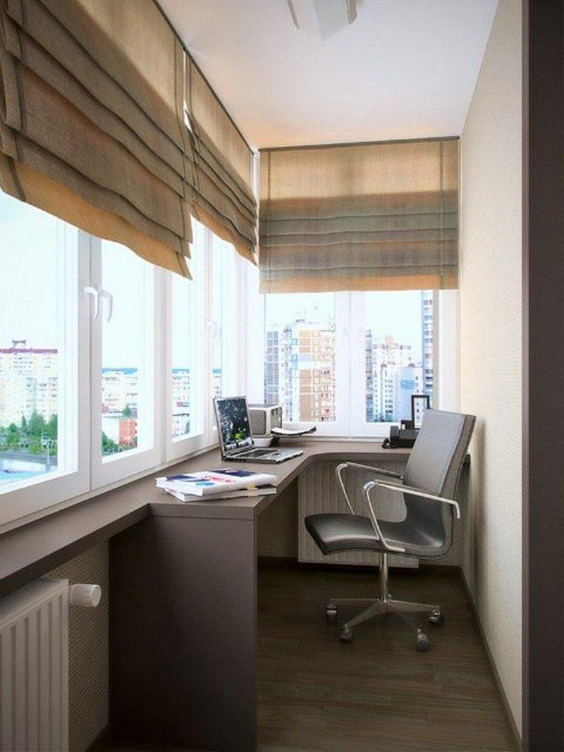 Очень часто небольшое пространство личных кабинетов, дает максимальное ощущение комфорта и удобства, где все под рукой и прекрасный вид из окна.