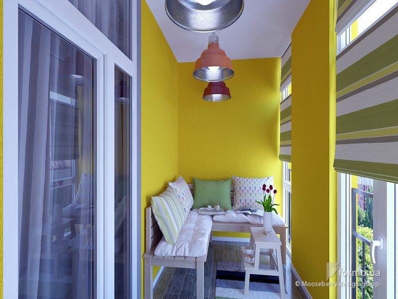 Дизайн интерьера лоджии и балкона, лоджий совмещенных с кухн.