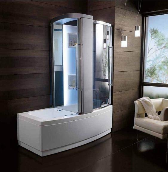 Сравнительно недавно душевые кабины с ванной начали появляться в обычных квартирах. Сегодня многие предпочитают именно такой вид сантехники.
