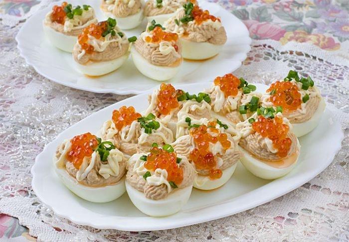 яйца фаршированные тунцом рецепт с фото-хв8
