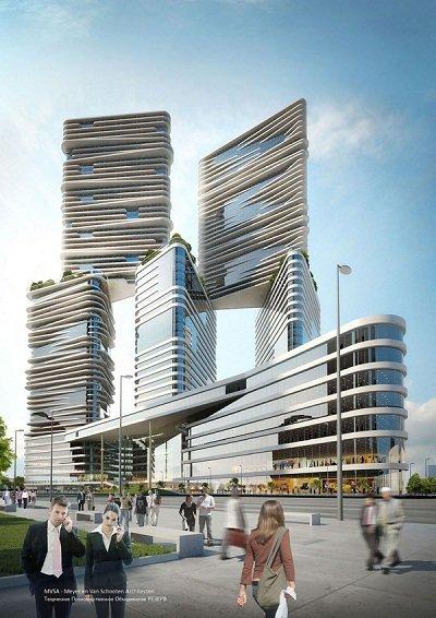 M-CITY – ультрасовременная интерпретация классической греческой архитектуры | Архитектура и строительство современная архитектура