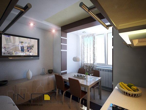 """Кухня на балконе в современном стиле"""" - карточка пользовател."""