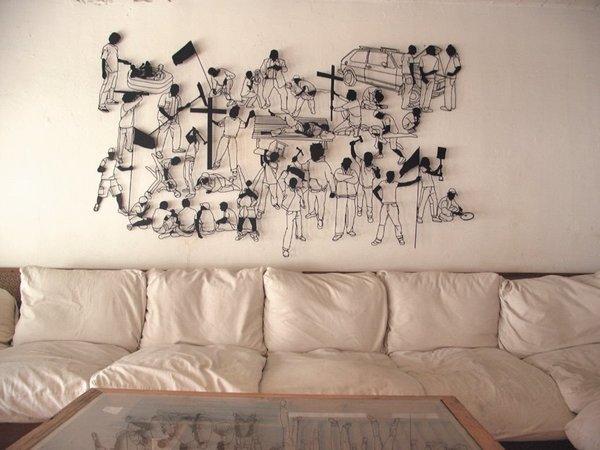 Трафареты для стен своими руками 47