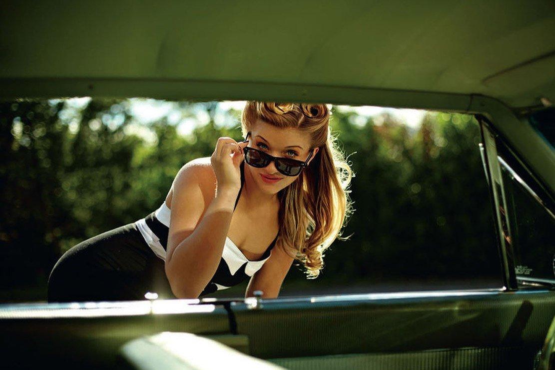 фото в машине девушки - 11