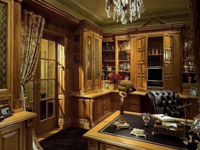 Дизайн кабинета в доме  Домашний кабинет в классическом стиле для плодотворной работы