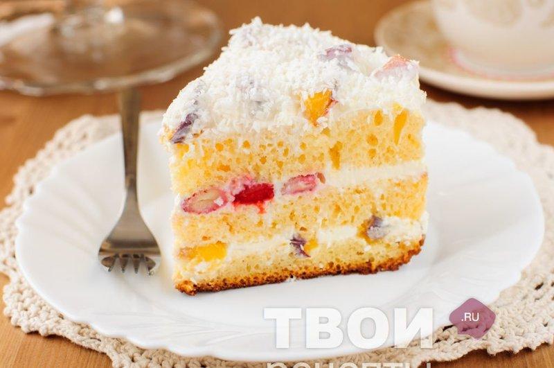 торт со сметанным кремом детский рецепт