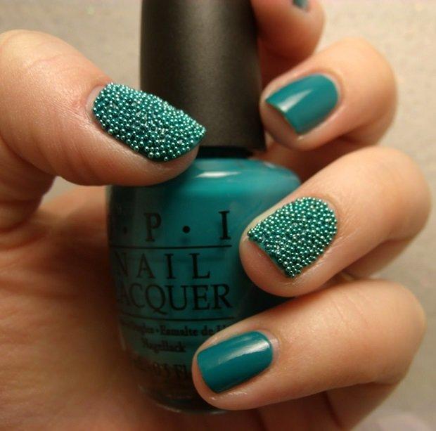 Дизайн ногтей зелёные