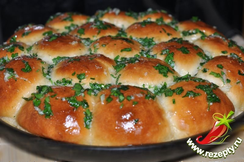 Рецепт булочек с чесноком
