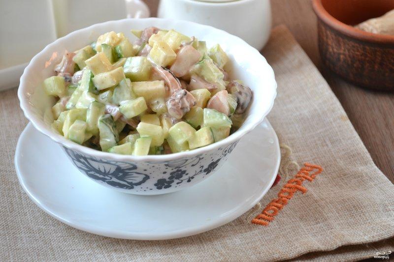 Салат с картофелем фри и корейской