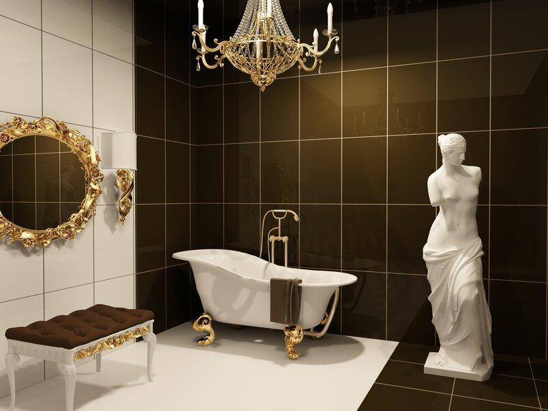 Скульптура для интерьера ванной комнаты.