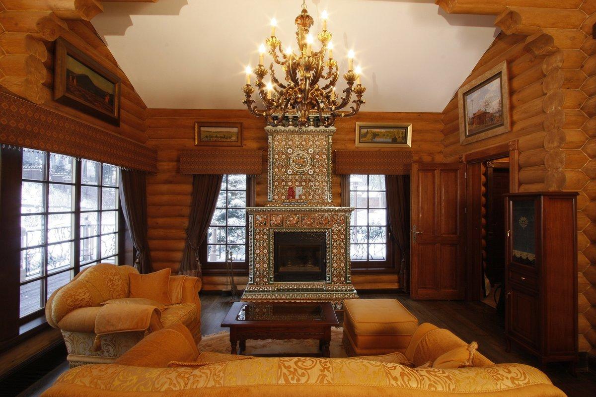 царский стиль дома из бруса