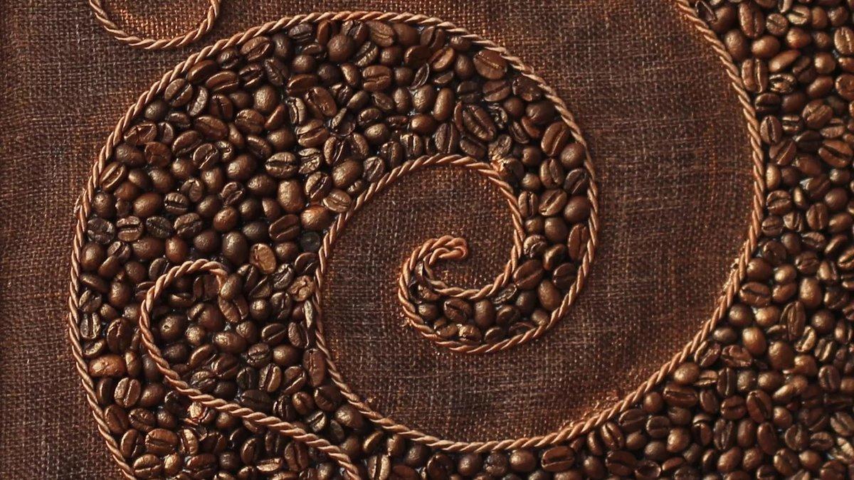 Любимому когда, как сделать картинку из кофейных зерен