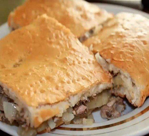 Пирог из сайры с картошкой пошаговый рецепт