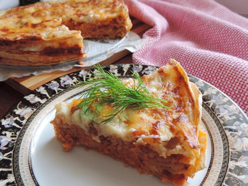 Лазанья с лавашом рецепт с фото пошаговый