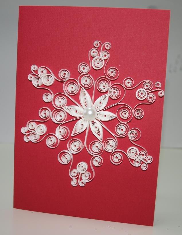 Снежинки на открытку своими руками из бумаги