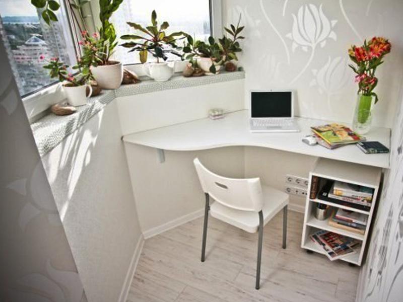 Организация рабочего пространства на балконе