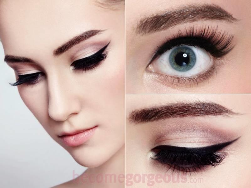Фото макияжа – Make-it-up.ru макияж с толстой стрелкой пошагово