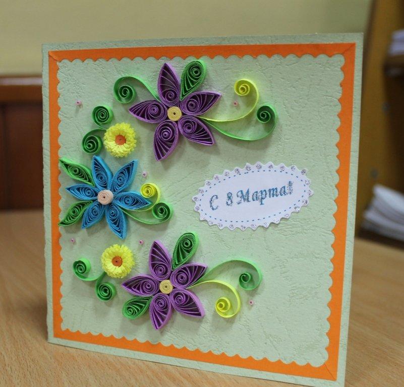 Комплекты, открытки с цветами своими руками квиллинг