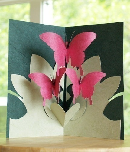 Как сделать открытку раскладушку своими руками из бумаги на 8 марта, здоровья