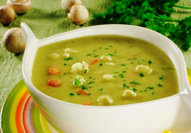 Постный суп пюре из фасоли