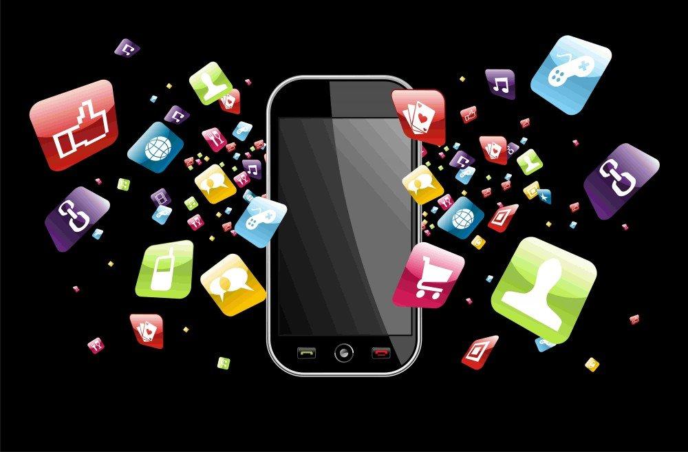 Картинка мобильного телефона для презентации, поздравление начальнику днем