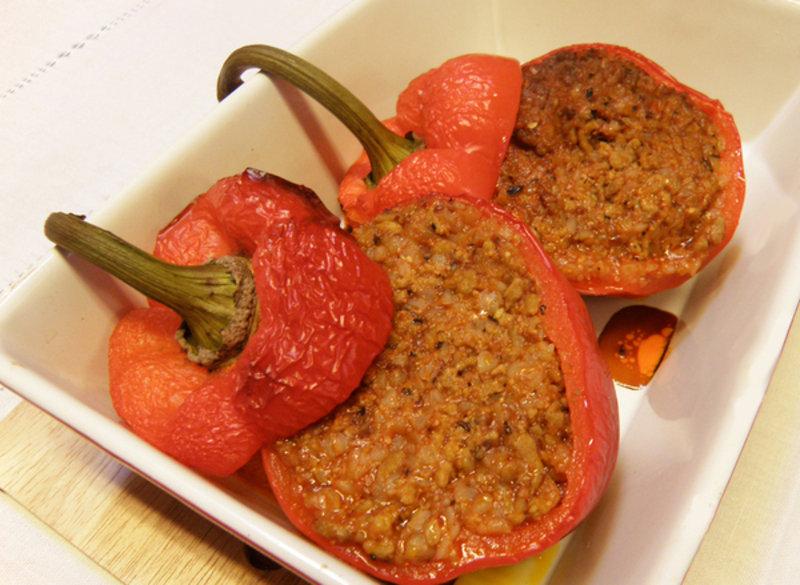Фаршированный перец с гречкой рецепт с фото