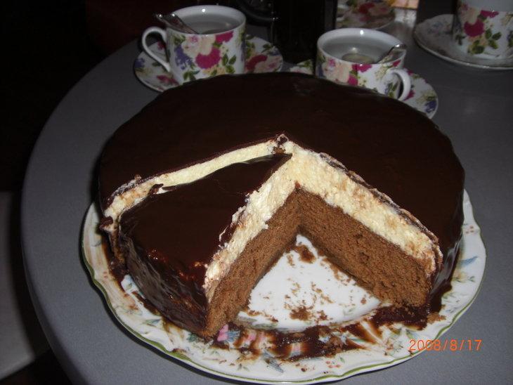 Торт птичье молоко с кашей