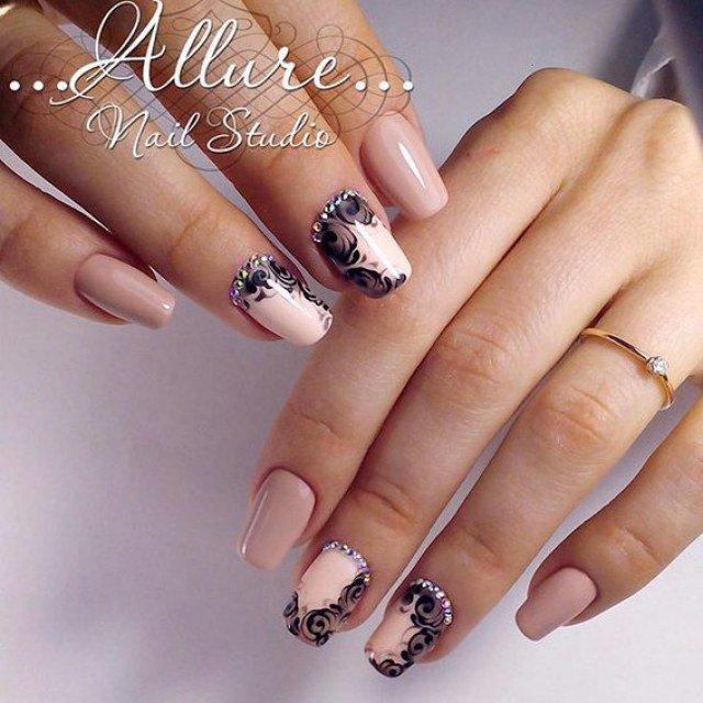 Росписью цветами на ногтях фото 104