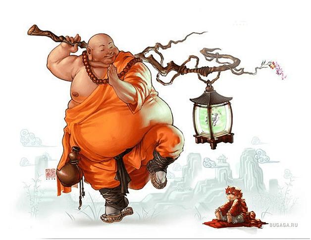 Смешные картинки монах, сердцем