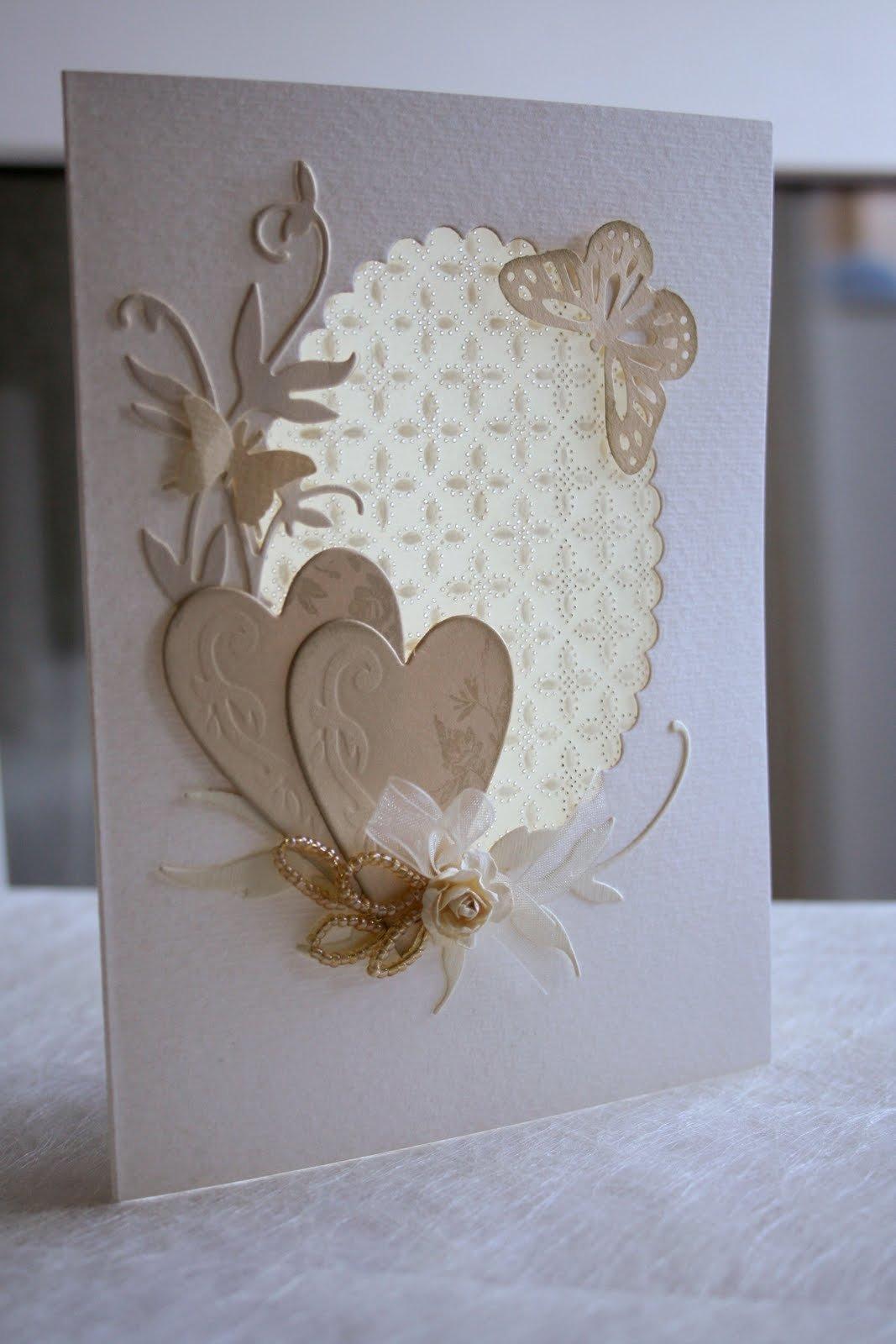 Свадебная открытка своими рукам