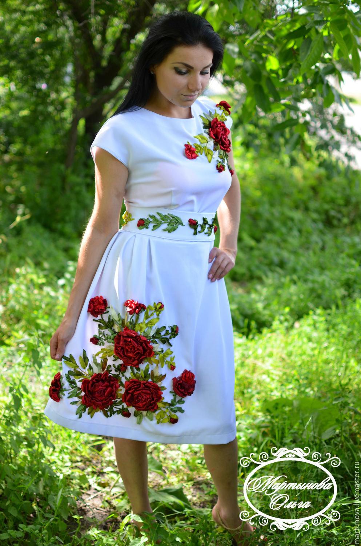 очень красивое авторское платье вышитое лентами» — карточка ... 45cd6ac0108bc
