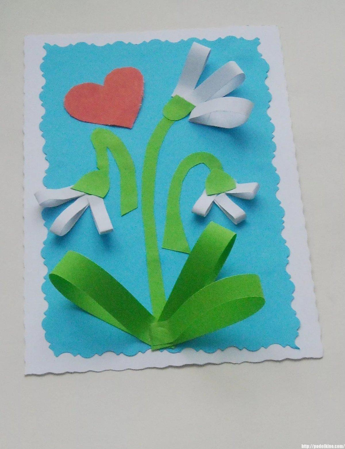 Прикольные новинки, как сделать открытку на 8 марта с ребенком 4 лет