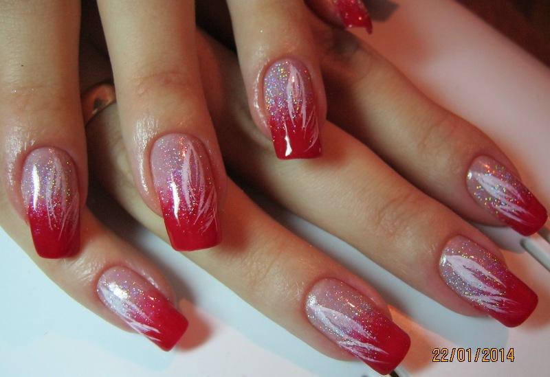 гель лак в красном цвете дизайн фото