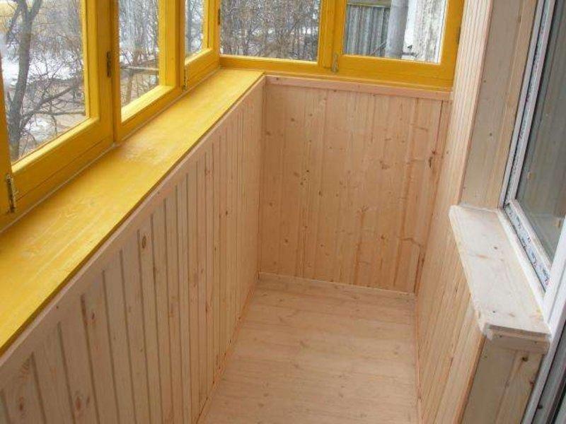 Самостоятельная обделка балкона вагонкой: пошаговая работа н.