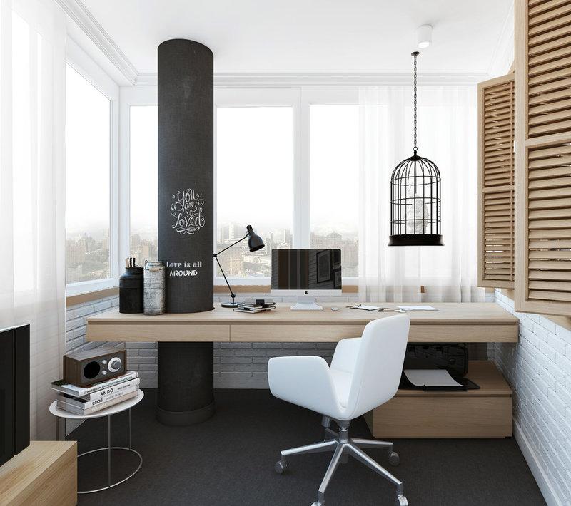 интерьер  просторного кабинета