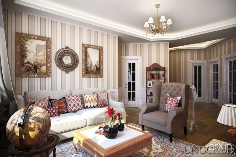 дизайн интерьера дома в английском стиле фото