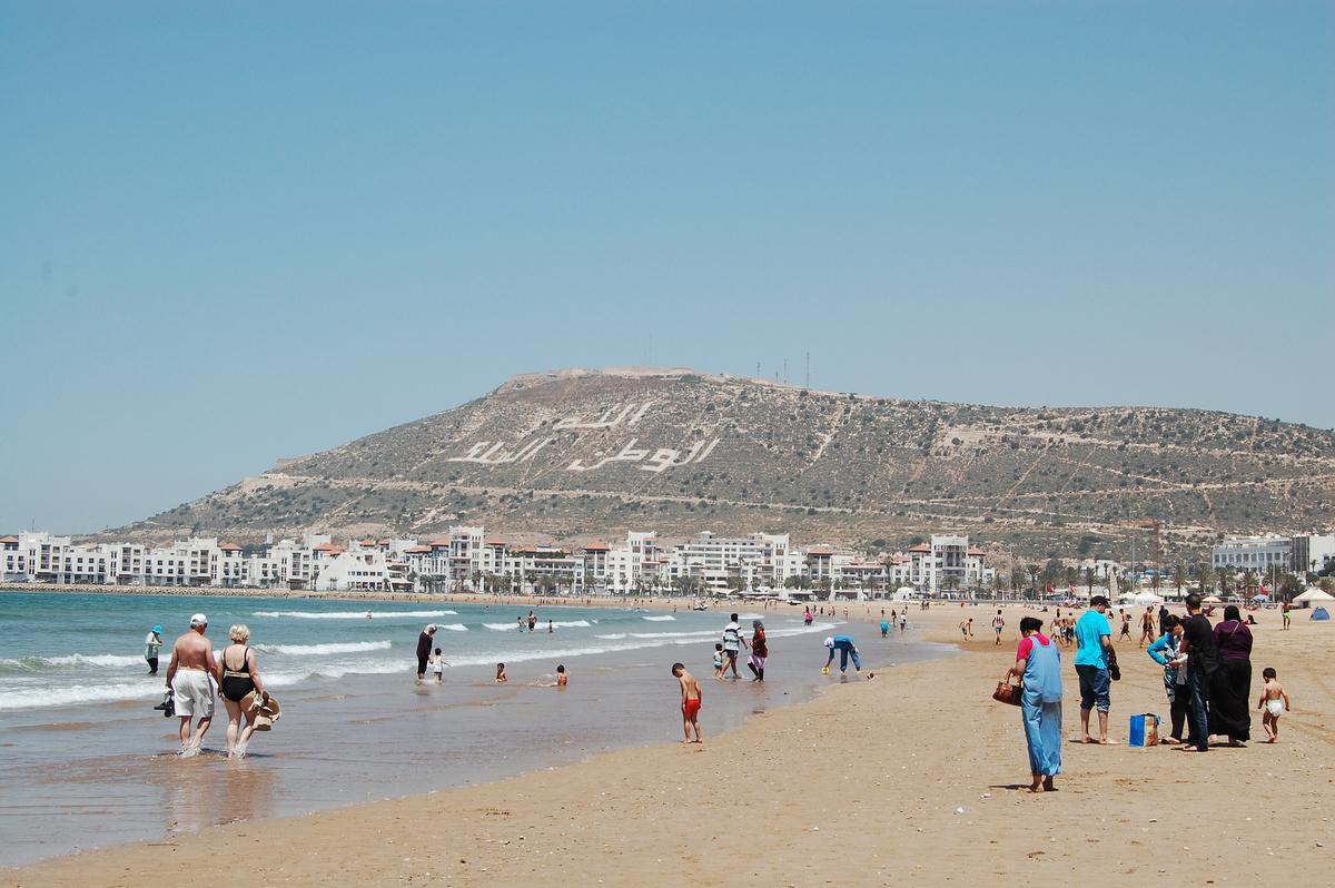 вязания бордюров, курорт в марокко фото это