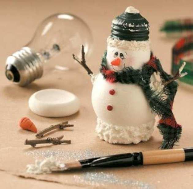 Поделки к новому году своими руками фото снеговика