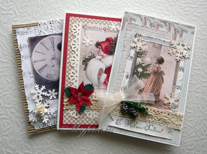 Скрапбукинг открытки с новым