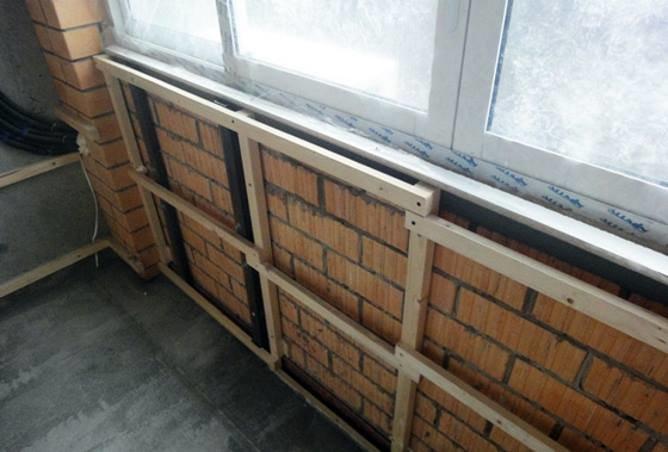 Как сделать обрешетку для обшивки балкона гипсокартоном..