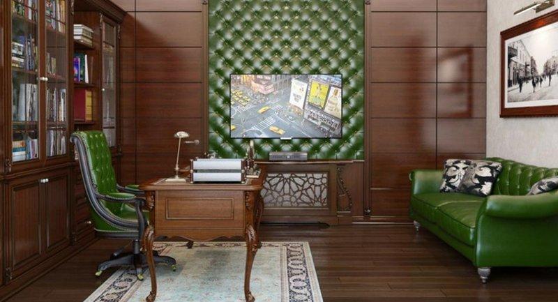 Элитный кабинет в английском стиле