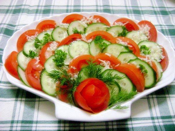 Нарезки фруктов и овощей