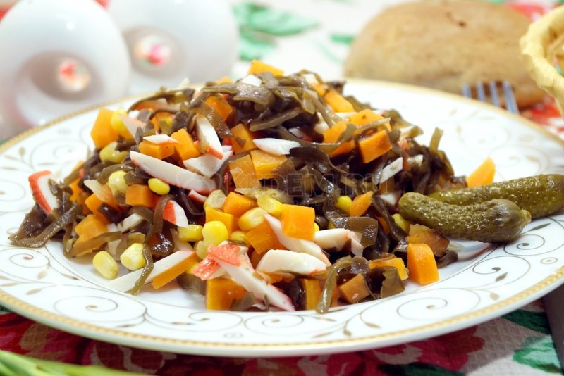 кулинарные рецепты с фотографиями закуски из морской капусты