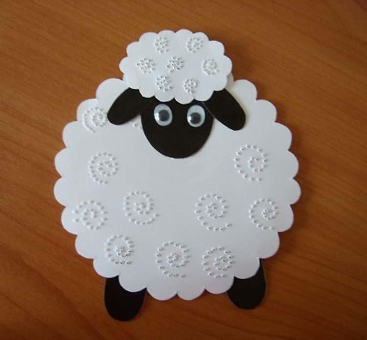 Анимацией днем, открытка своими руками овечка