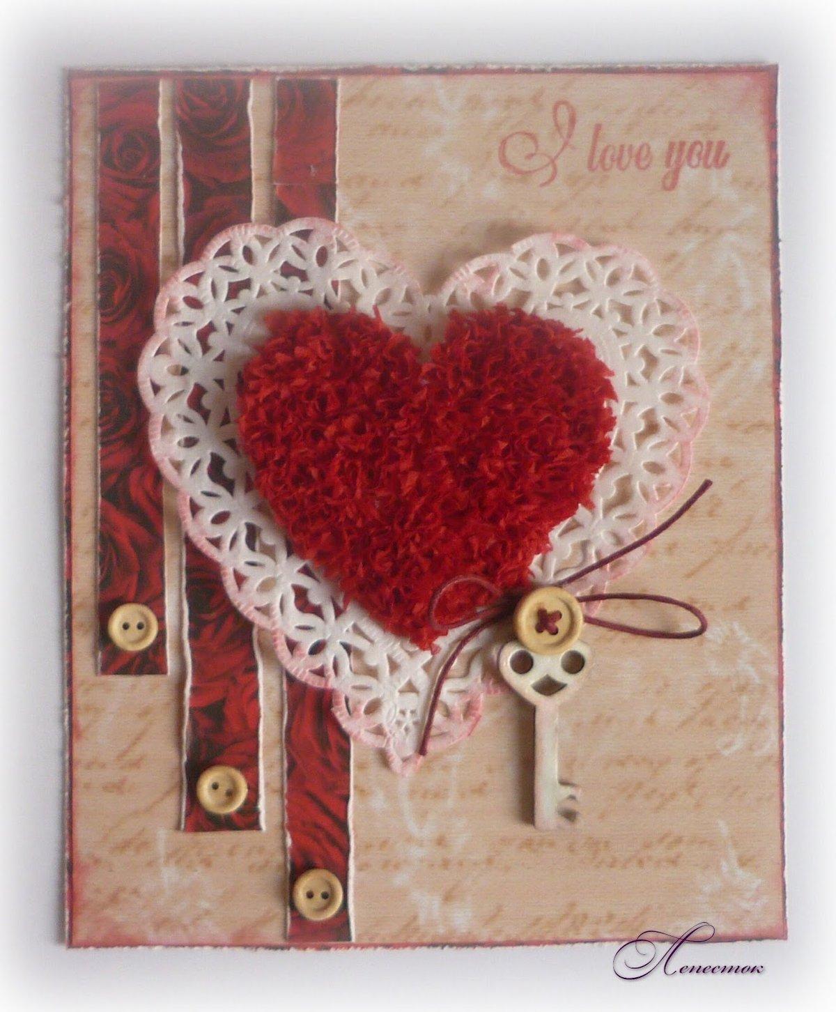Красном платье, открытка в виде сердца своими руками фото