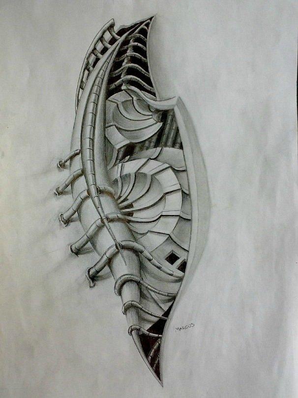 тату эскизы рисунки биомеханика стиль доступности