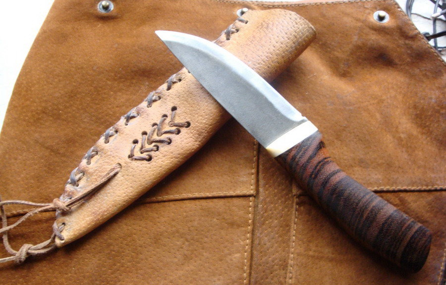 работы рукоять ножа из кожи как делать красивая