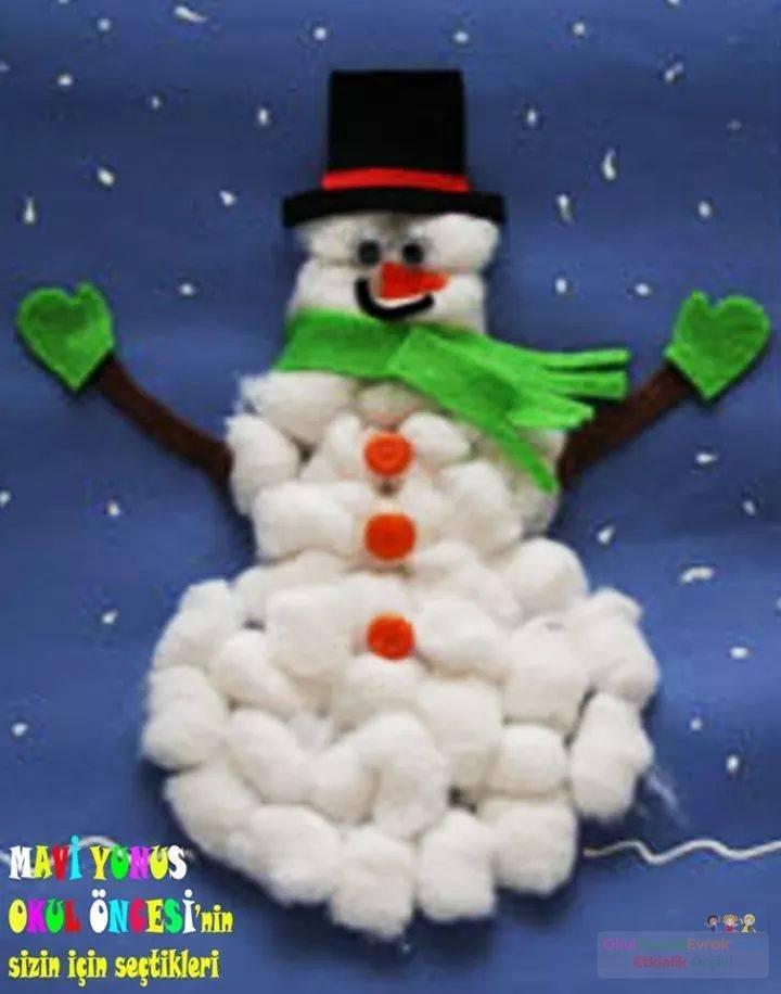 жилья сделать снеговика из ваты выкройку
