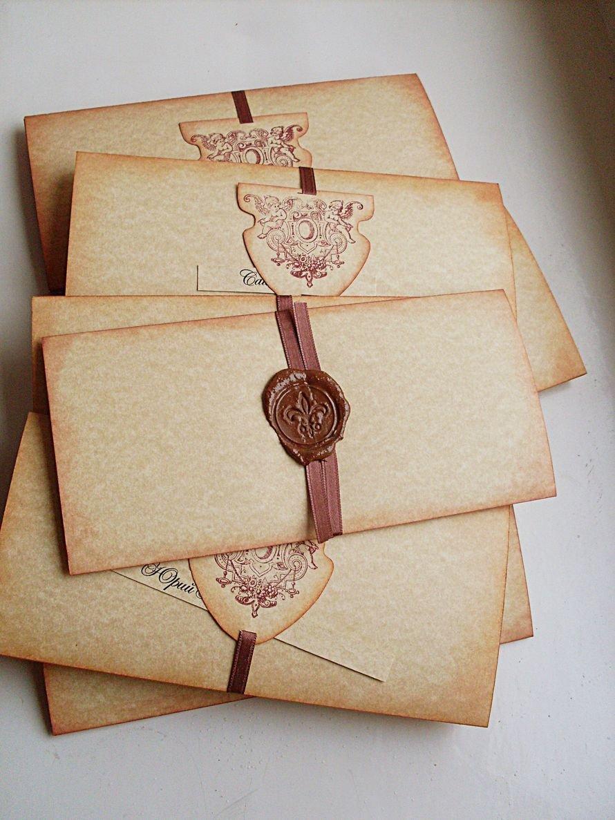Старые приглашения на свадьбу
